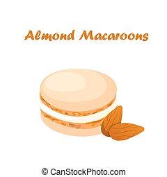 savoureux, macaron, petit gâteau