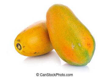 savoureux, papaye, frais