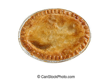 Savoury meat pie - A pie with a golden egg washed crust top...