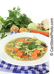 Savoy cabbage stew