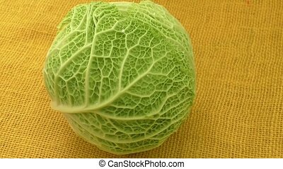 Savoy kale heads