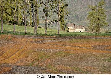 savoy, paisagem rural, frança