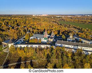 Savvino-Storozhevsky Monastery in Zvenigorod - Moscow region - Russia - aerial view