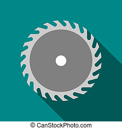 Saw blade icon, flat style