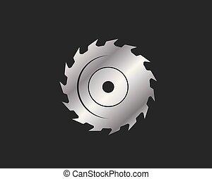 saw blade logo icon vector illustration