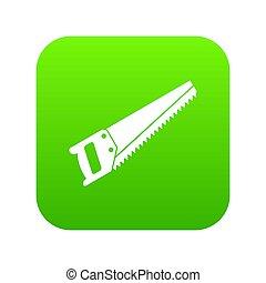 Saw icon digital green