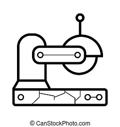 saw icon. saw vector illustration
