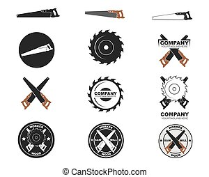 saw logo icon vector illustration design