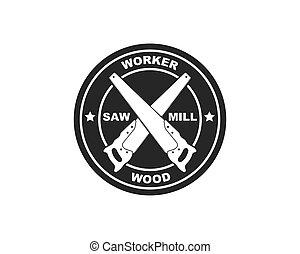 saw logo icon vector illustration