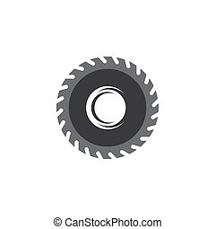 Saw logo vector icon illustration