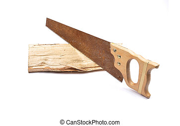 Saw on wood