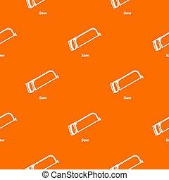 Saw pattern orange