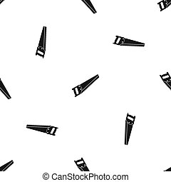 Saw pattern seamless black