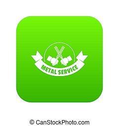 Saw tool icon green