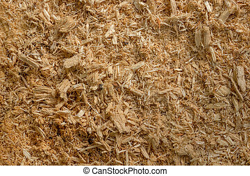 Sawdust close-up. Shallow depth of field