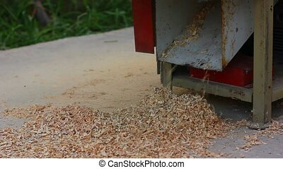 sawdust falling down