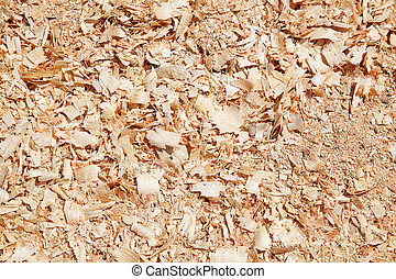 sawdust - Sawdust on the lumber yard