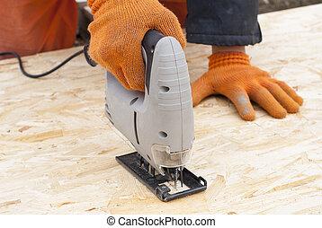 sawing OSB