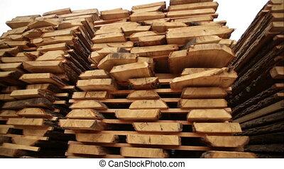 sawmill bark boards storage wood