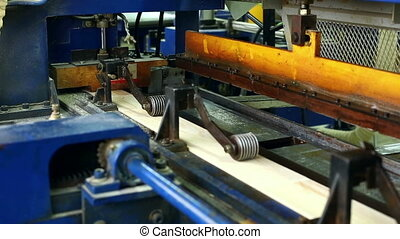 Sawmill. Production of laminated veneer lumber - Production...