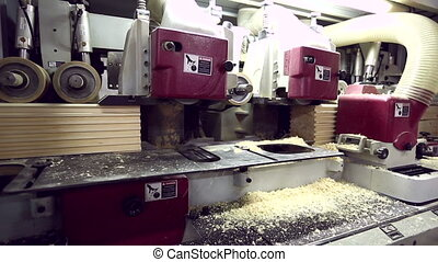 Sawmill. View on manufacturing of profiled bar - Sawmill....