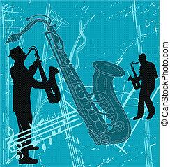 Sax Background - Sax Grunge background