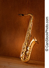 Sax golden tenor saxophone vintage retro - Sax golden tenor...
