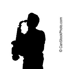 Sax player - Silhouette of a sax player