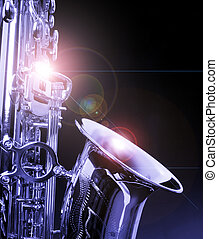 SAX - picture of a beautiful golden saxophone