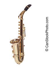 Saxaphone musical instrument studio cutout