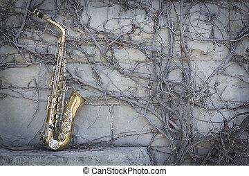 saxofone, jazz, grunge