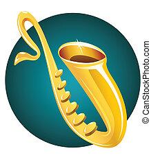 saxofone, muziek instrument