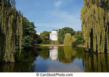 saxon, 花園, 在, 華沙, 波蘭