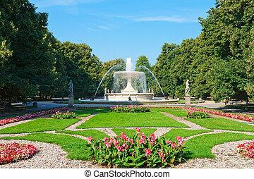 saxon, 花園, 在, 華沙