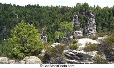 Saxon Switzerland National Park, Bastei - The Bastei is a...