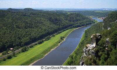 Saxon switzerland national park landscape germany.