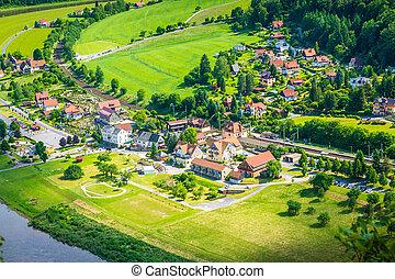 Saxon Switzerland natural reserve near Dresden, Germany.