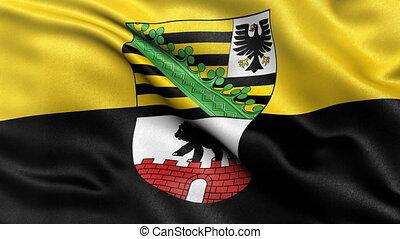 Saxony Anhalt state flag seamless loop - Seamless loop of...
