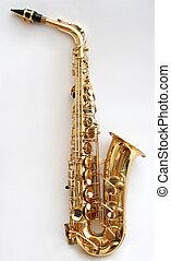 Saxophone 3 - A golden alto saxophone.