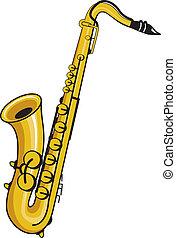 saxophone - a saxaphone