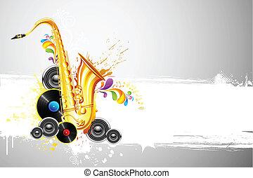 Saxophone and Speaker