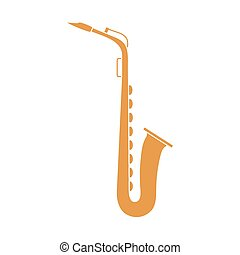 Saxophone. Classical music wind instrument.