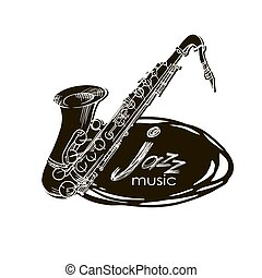 Saxophone Doodle, Hand Drawn Sketch