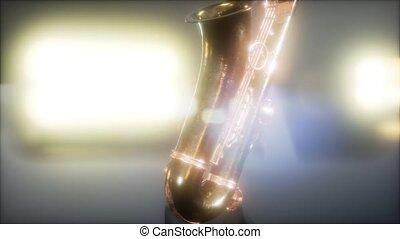 saxophone, fin, instrument, haut, jazz