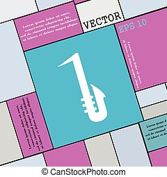 Saxophone icon sign. Modern flat style for your design. Vector