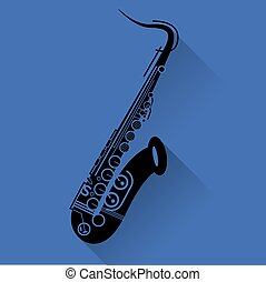 Saxophone instrument icon