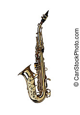 saxophone isolated under the white background ( Clipping...