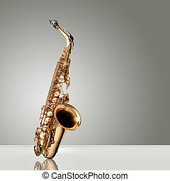 Saxophone Jazz instrument - Alto Saxophone woodwind...
