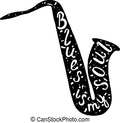 Saxophone label.