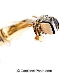 Saxophone Mouthpiece - A detail of a saxophone mouthpiece ...
